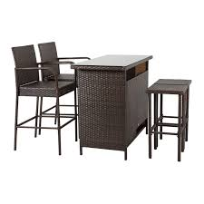 Kinbor Patio Outdoor Wicker Barstool Set Pool Furniture Patio High Chair  (Brown-5 Piece Patio Bar Set) Chair Overstock Patio Fniture Adirondack High Chairs With Table Grand Terrace Sling Swivel Rocker Lounge Trends Details About 2pcs Rattan Bar Stool Ding Counter Portable Garden Outdoor Rocking Lovely Back Quality Cast Alinum Oval And Buy Tables Chairsding Chairsgarden Outside Top 2 Pcs Set Household Appliances Cool Full Size Bar Stools