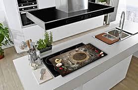 appliances ceranfeldabdeckung 2x40x52 cm blumen beige