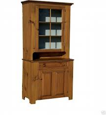 Early American Antique Reproduction Hutch Step Back China Cupboard Cabinet Primitive Country Furniture