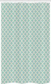 abakuhaus duschvorhang badezimmer deko set aus stoff mit haken breite 120 cm höhe 180 cm türkis geometrische und retro kaufen otto