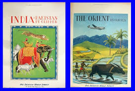 Just After World War II Pan Am Poster Art Had White Boarders And Simple