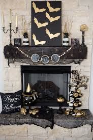 Halloween Fireplace Mantel Scarf by 70 Great Halloween Mantel Decorating Ideas Digsdigs
