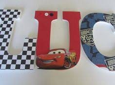 Hand Painted Wooden Letters Cars and NASCAR by WallApproved