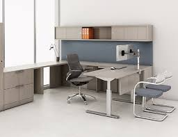 Knoll Sit to Stand Tone Height Adjustable Tables with Reff Profiles Private fice