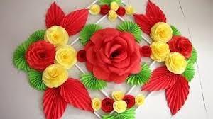 Simple Home Decor Wall Decoration Hanging Flower Paper Craft Ideas