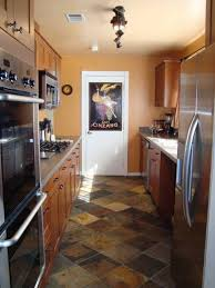 small kitchen decorating design ideas using travertine tile