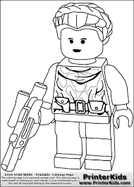 Print Lineart Wars Lego Coloring Pages Free Colouring Funycoloring