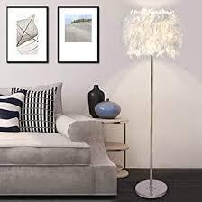 elinkume stehleuchte weiße federn led stehleuchte simple modern style led wohnzimmer le 6w weiß pedal schalter warmes licht e27 halter