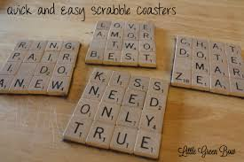 wedding gift diy scrabble coasters and words