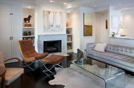 Living Room With Fireplace And Bookshelves by Simple Small Living Room Decoration With Clear Acrylic Coffee