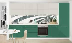 lackierte küchenzeile küchenblock komplett küche 340cm weiß frontfarbe wählbar