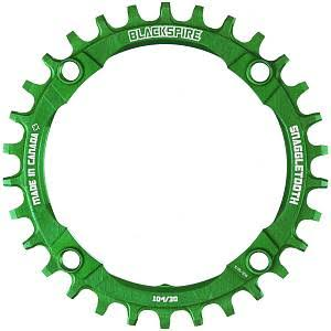 Blackspire 595330WPG Snaggletooth Narrow Wide Chainring - Green, 30t