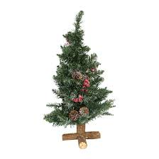 2ft Frosted Sherwood Artificial Christmas Tree With Wooden Base