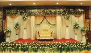 Wedding Stage Decoration With Flowers On Decorations New Stages