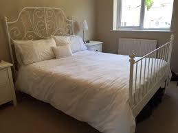 leirvik bed frame ikea leirvik white metal bed frame in aldershot hshire gumtree