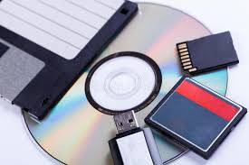 Download Selection Of Different Computer Storage Devices Stock Image
