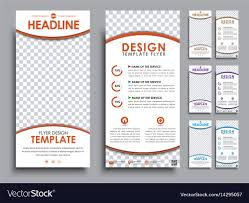 100 Mm Design White Flyers Size Of 210x99 Mm Royalty Free Vector