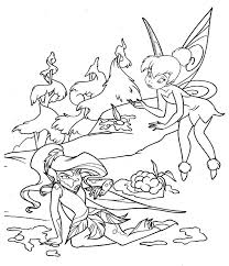 Free Coloring Page Of Tinkerbell TinkerBell Pages