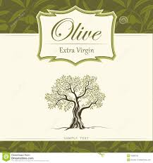 Olive tree Olive oil Vector olive tree For labe