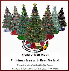 Types Of Christmas Trees To Plant by Second Life Marketplace Menu Driven Mesh Christmas Tree With