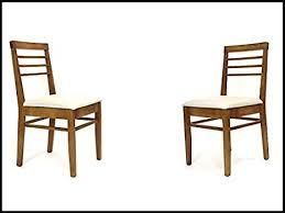 langer naturholzmöbel 2x stühle mit polster venneza fsc