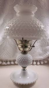 Fenton Hobnail Milk Glass Lamp 1950 s 1960 s by PixieKissed