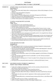 Download Sales Training Manager Resume Sample As Image File