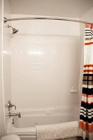 Tiling A Bathtub Surround by Bathroom Makeover With A Faux Subway Tile Surround