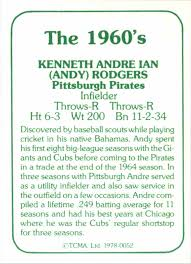 100 Andy Rodgers 1978 TCMA Stars Of QuotThe 1960Squot