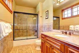 linear sliding shower and tub doors