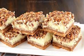 Pumpkin Cheesecake Layer Pie Recipe by Pecan Pie Cheesecake Bars Shugary Sweets