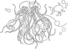 Jellyfish Singing Coloring Page For Kids