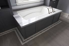 Tiling A Bathtub Deck by Built In Tub Shelves Design Ideas