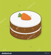 stock vector decorated carrot cake on striped green background