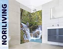 noriliving duschrückwand fliesenersatz dusche 90x200 cm