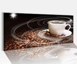 acrylglasbild 100x40cm kaffee tasse coffee bohnen küche glasbild bilder acrylglas acrylglasbilder wandbild 14a131 wandtattoos und leinwandbilder