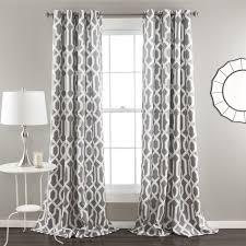 Geometric Pattern Grommet Curtains by Lush Decor Edward Moroccan Pattern Blackout Curtain Panel Pair 84
