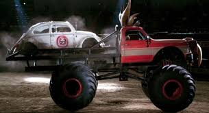 Only Herbie Can Land On, And Destroy, A Monster Truck ~ Car And Motor
