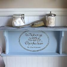 Americana Decor Chalky Finish Paint Lace by Vintage White Cubby Shelf With Nameplates Project By Decoart