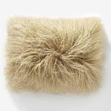 Mongolian Lamb Pillow Cover Pebble 12