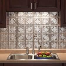 Metal Adhesive Backsplash Tiles by Kitchen Home Depot Backsplash Tile With Simple Design And