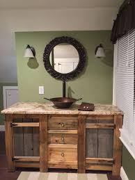 Reclaimed Wood Bathroom Vanity Of Rustic