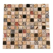 and copper metal mosaic 1 x 1 gs1002 glass tile