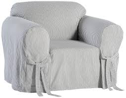 Classic Slipcovers BT30RASTRD One Piece Stripe Twill Chair Slipcover  Red/White Quickcover Ticking Stripe Relaxed Fit Long Box Pleat Parsons Chair Slipcover Simple And Streamlined The Chair Slipcover Updated Ikea Counter Stools With Bar Stool Slipcovers Refreshing Easy Diy Striped That Exude Pleated Ottoman Howto Sincerely Marie Designs Ruffled Amazoncom Linen Seat Cover On 4 Sides Sure One Piece Henriksdal Ding Skirt How To Sew A For Ikea Henriksdal Sebago Slipcovered Arm Host Chairs Ethan