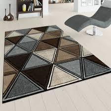 kurzflor teppich wohnzimmer 3 d rauten muster