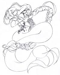 Anime Mermaid Coloring Pages Item 2378