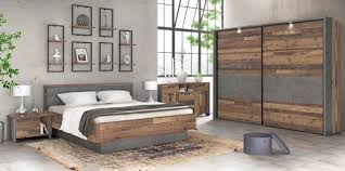 schlafzimmer clif binou 270 6 tlg komplettset optik wood vintage