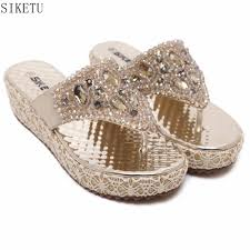 popular gold wedge shoes buy cheap gold wedge shoes lots from
