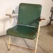 shop vintage metal folding chairs on wanelo