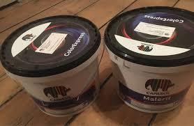 2x caparol farbe je 7 5 liter grauweiss naturweiss